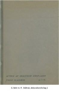 G. Behr m. fl. Ståltryk, dekorationsforlæg 1