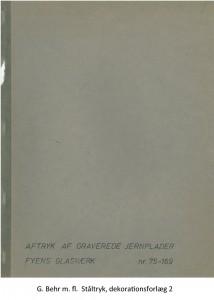G. Behr m. fl. Ståltryk, dekorationsforlæg 2